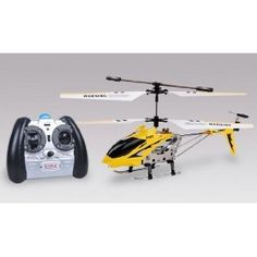 Syma S107 R/C Helicopter – Yellow (with Built-in Gyroscope Remote). Details at http://youzones.com/syma-s107-rc-helicopter-yellow-with-built-in-gyroscope-remote/