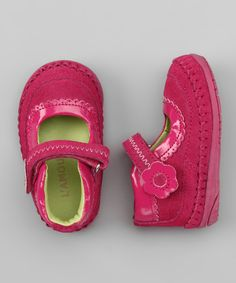Take a look at this L'Amour Shoes Fuchsia Flower Scalloped Mary Jane on zulily today!