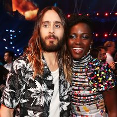 17 Photos That Will Make You Wish Jared and Lupita Were an Actual Couple: Dear Jared Leto and Lupita Nyong'o: we can't do this with you guys anymore.
