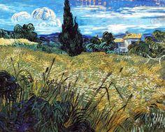 Vincent Van Gogh - Post Impressionism - Saint REMY - Champ de blé au cyprès