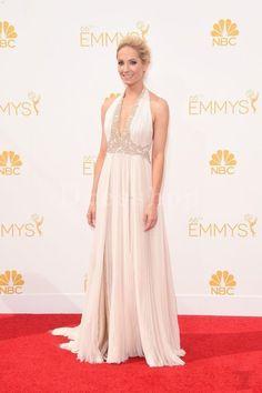 Joanne Froggatt Halter Slit Ivory A-line Celebrity Prom Dresses Emmys 2014 - Emmy Awards Dresses - Celebrity Dresses - Dresshopau.com
