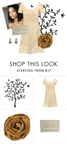 """Cut Out Dress and Clutch"" by chicastic on Polyvore featuring Godinger, Dunn, Notte by Marchesa and Vera Bradley"