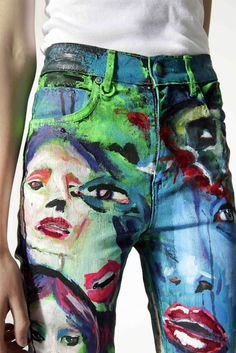 BLACKlog: The Art of Denim - Art Painted on Denim - Online auction live on Trade Me
