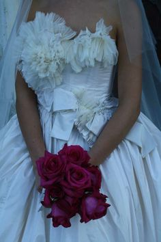 wedding dres with flowers