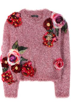 Dames Sweaters - Dolce & Gabbana Metallic Sweater With Appliqué