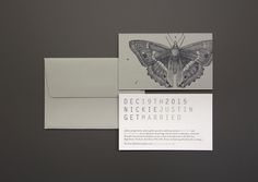 Letterpress Invitations, printed on Duplex Colorplan Stock.  Design by Client.  Printed by The Hunter Press.