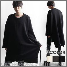 Extra Long Cut   Loose Knitwear Sweater (top-7319)