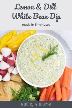 White Bean Dip, White Beans, Sugar Free Recipes, Vegan Recipes, Vegan Food, Yummy Appetizers, Appetizer Recipes, Dairy Free, Gluten Free