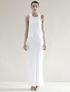 SVEK white dress | Minimal + Chic | @CO DE + / F_ORM