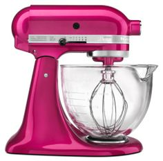 New Raspberry Ice color from KitchenAid. LOVE.