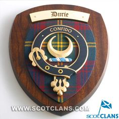 Durie Crest Plaque