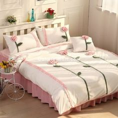 Саншайн розовый и белый принцесса Постельные принадлежности Постельные принадлежности Девушки Женщины Постельные принадлежности