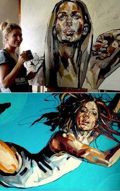 Anna Bocek in Her Studio    #artist  #artistatwork  #studio