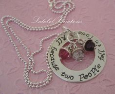 Hand Stamped Mommy Necklace  Personalized by LalabelCreations,