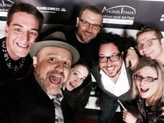 """Selfie"" on the red carpet!  With David Cubitt, Enrico Colantoni, Angelo Oddi, Anna Jane Edmonds, Alex Portman, Sergio Navarretta and me! Red Carpet, Anna, David, Relationship, Selfie, Modern, Fictional Characters, Enrico Colantoni, Trendy Tree"