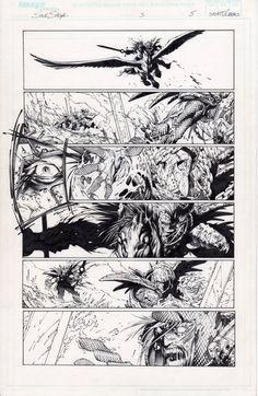 Soul Saga page 5 Comic Art Comic Books Art, Book Art, Soul Saga, Comic Page, Original Art, Sketches, Ink, Comics, Boards