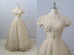 vintage 1950s Wedding Dress / Priscilla of by TheVintageMistress, $468.00
