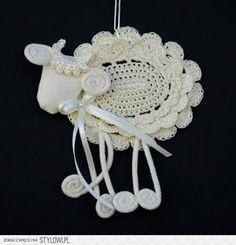 Easter Crochet Patterns, Afghan Crochet Patterns, Crochet Motif, Crochet Doilies, Hand Crochet, Crochet Flowers, Crochet Sheep, Thread Crochet, Cute Crochet
