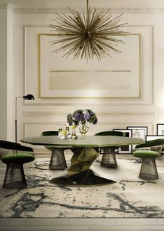 Top 5 Statement Dining Room Tables From Luxury Brands | Dining Room Ideas. Dining Room Table. #diningroom #diningroomideas #diningtable Read more: http://diningroomideas.eu/statement-dining-room-tables-luxury-brands/