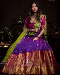 """You don't need a king to be a queen"" Outfit by Lehenga Saree Design, Half Saree Lehenga, Lehnga Dress, Lehenga Designs, Bridal Lehenga, Saree Blouse, Banarasi Lehenga, Bollywood Lehenga, Kids Lehenga"