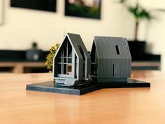 Stunning model of a modern home. Maquette Architecture, Architecture Model Making, Concept Architecture, Facade Architecture, Landscape Architecture Model, Residential Architecture, Tyni House, Planer Layout, Arch Model
