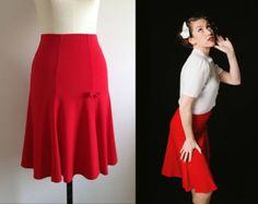 BLACK TRUMPET SKIRT/ 1940s style/ Lindy hop skirt/ Swing skirt