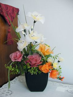 Handmade Colorful Flower Arrangement by LiYunFlora on Etsy, $35.00