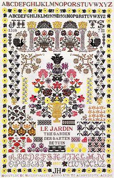 Cross Stitch Love, Cross Stitch Alphabet, Cross Stitch Samplers, Cross Stitching, Needlecrafts, Filet Crochet, Needlepoint, Needlework, Fabrics