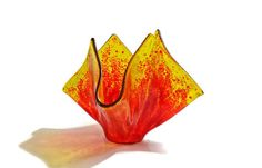Glass Votive Holder in Flame by SeaLambGlass on Etsy, $39.99