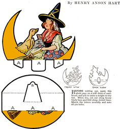 Paper Toy Rocker – Mother Goose – Designed by Henry Anson Hart