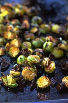 Garlic Roasted Brussels Sprouts by angela roberts