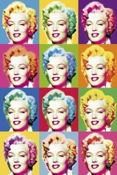 @PinFantasy - MM pop art ~~ For more:  - ✯ http://www.pinterest.com/PinFantasy/gente-~-marilyn-monroe-art/
