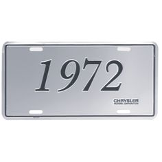 chrysler license plate 1972 chrysler models reproduction