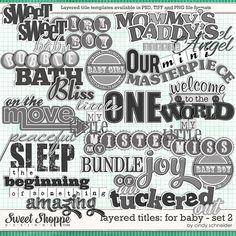 Cindy's Layered Titles: Baby Set 2 by Cindy Schneider