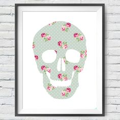 Poá Skull  #art #urbanarts #decor #digitalart #artprint #artflakes #society6 #dbh #drawdeck #fineartamerica #colab55 #touts #sortilejos #renatosette