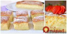 Tento koláčik bežne nájdete vo francúzskych cukrárňach, Ja ho pečiem aj doma a má obrovský úspech. Cesto sa počas pečenia rozdelí na 3 vrstvy - pevnú, krémovú a pudingovú. Potrebujeme: 140 g cukru 125 g roztopeného masla 110 g