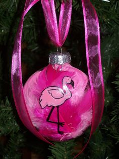 Christmas Holiday Hand Painted Pink Florida by stoneycreekstudio, $12.00