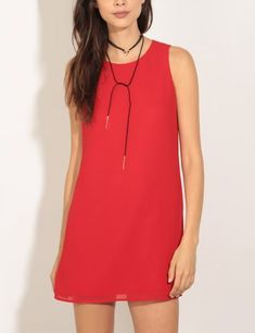 A simply stunning red dress. Pair with statement jewelry for a knockout look.