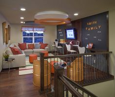 Loft Space: 10 Great Ideas. Love the teen lounge idea and the gym. They both bring everyone together!