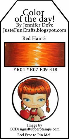 Red hair 3 Just4FunCrafts and DoveArt Studios: Color of the Day