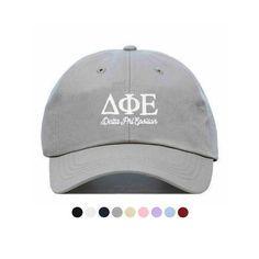 35c28416 Delta Phi Epsilon L/S Baseball Hat - Embroidered Baseball Cap // Sorority  Greek Big Little Sister Gift