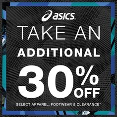 Additional 30% OFF select Footwear, Apparel and Clearance*