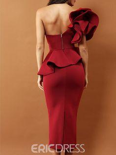 Red Bodycon Evening Cocktail Elegant Dress For Ladies – JTSilk Elegant Dresses Classy, Classy Dress, Simple Dresses, Bodycon Prom Dresses, Dress Outfits, Fashion Dresses, Dress Silhouette, Couture Dresses, Bridesmaid Dress