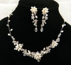 Swarovski Crystal And Fresh Water Pearl Wedding Necklace And Earring Set 0305 by 21 Bridal Accessories, http://www.amazon.com/dp/B004RIW928/ref=cm_sw_r_pi_dp_pySBrb1BFM324