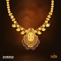 Indian Jewellery and Clothing: Light weight gold jewellery of veda collection from Joyallukas..