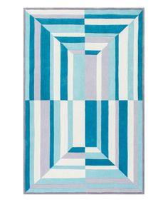 Loving this Blue Geometric Jordon Rug on #zulily! #zulilyfinds