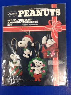 Peanuts Snoopy Malina Christmas Jeweled Hanging Ornaments Kit 8400/001