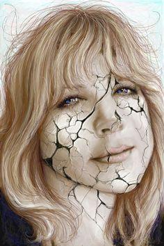 Fragile - self portrait modified with Corel painter 11