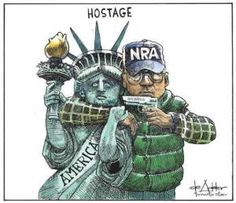 This is a Canadian cartoon. It's how they see America.