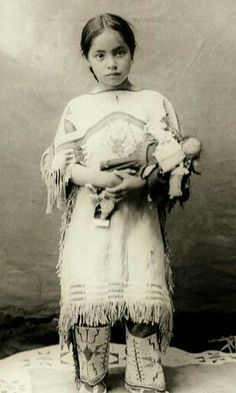Native American Indian girl ~ Katie Roubideaux, Rosebud Sioux, Katie Roubideaux Blue Thunder was the daughter of Louis Roubideaux, the official United States interpreter on the Rosebud Reservation in the late